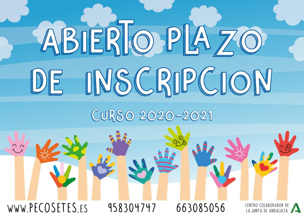 Abierto Plazo de Inscripción Curso 2020-2021