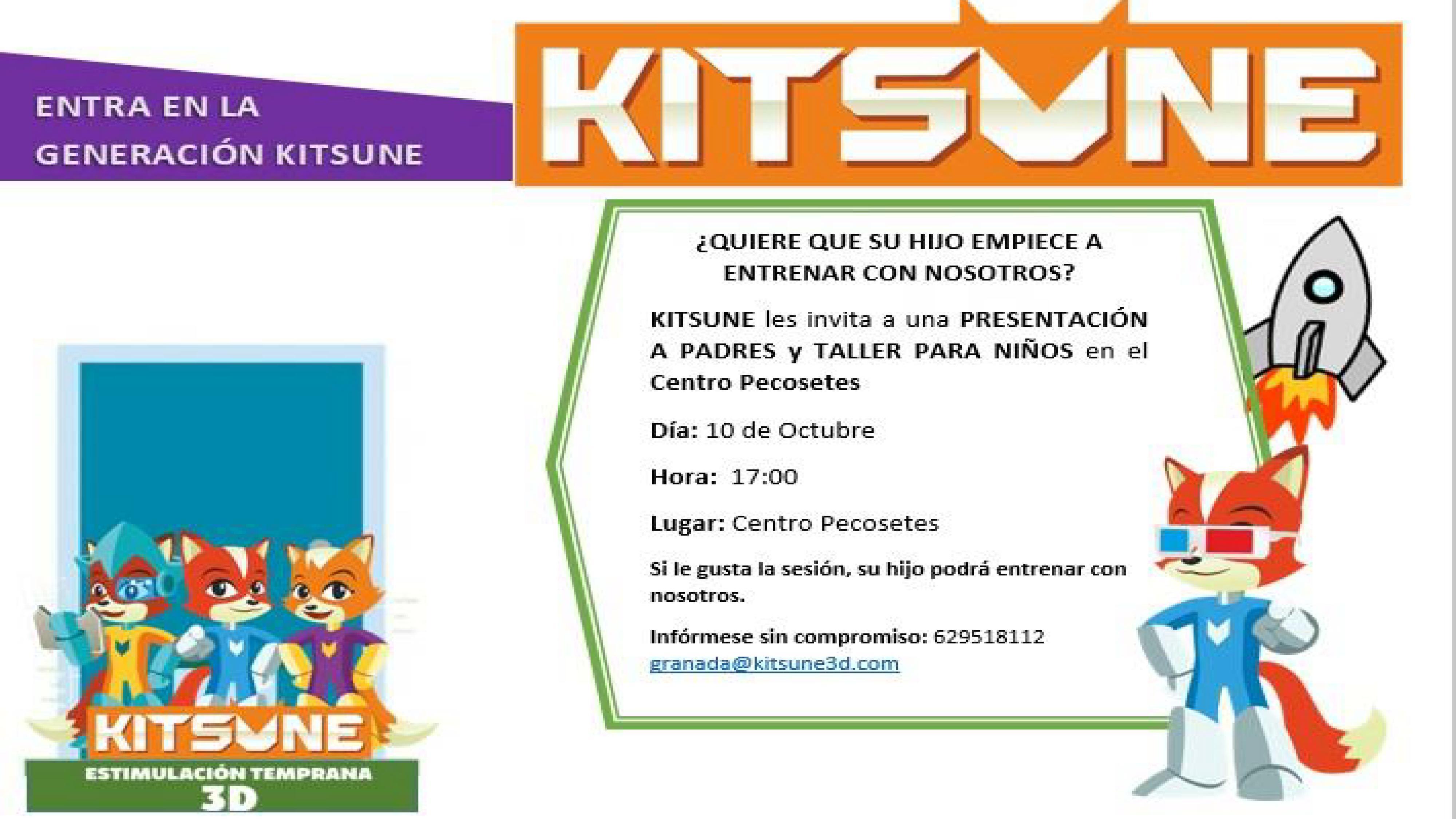 Presentación Taller de KITSUNE - miércoles 10 de octubre, 17:00h